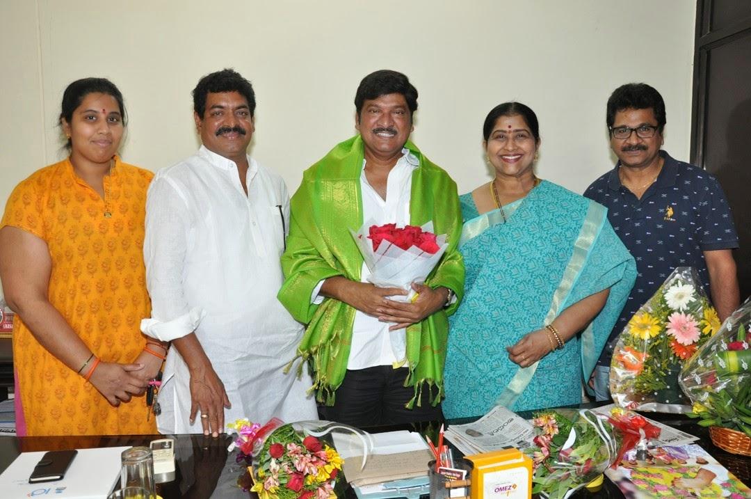 Maa President Rajendra Prasad Felicated by Tammineni and Others-HQ-Photo-1