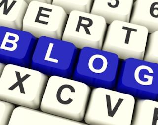 Blog Letters In Blue On A Keyboard
