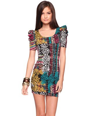 Fitted%2BTribal%2BDress2 >I want Forever 21 Fitted Tribal Dress