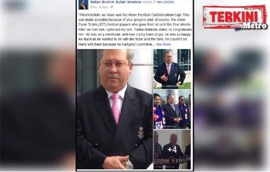 Sultan Johor derma RM1 juta kepada rumah anak yatim kerana bersyukur JDT julang Piala AFC