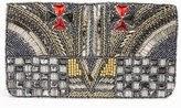 Berry maltese clutch, Berry rhinestone handbag, Berry designer purse, glitter holiday clutch, holiday handbag, affordable holiday clutch, evening clutch handbag, Berry accessories, blue maltese clutch purse