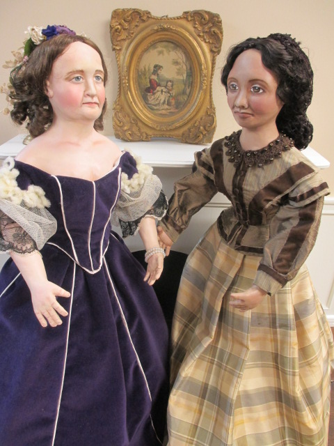 Mary Todd Lincoln and her dressmaker, Elizabeth Keckley