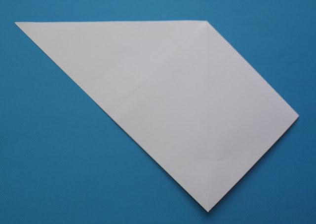 żaglówka, łódka origami