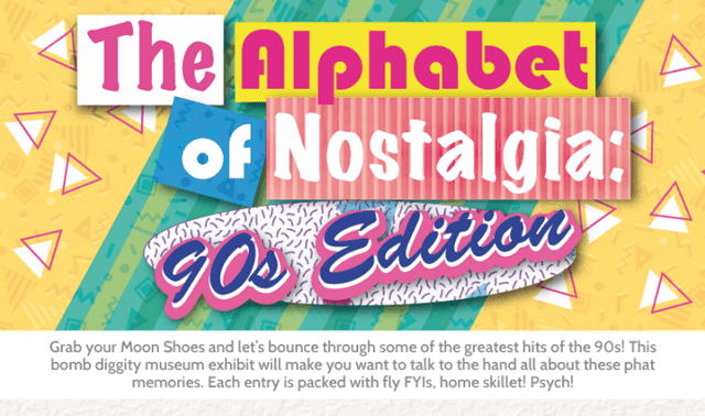 The Alphabet of Nostalgia: 90s Edition