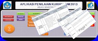 Alikasi Penilaian Raport Kurikulum 2013 Baru SD Kelas 1,2,3 4, 5 Dan 6