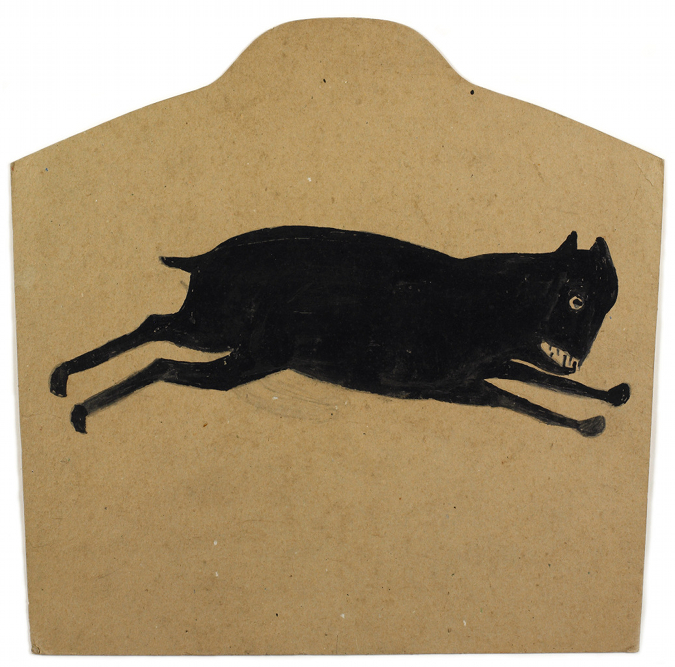 Black Dog Running by Bill Traylor, on Notes from the Pack