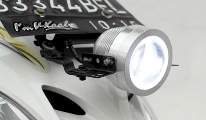 Atasi Lampu Motor Redup Dengan Pasang Lampu Sorot LED