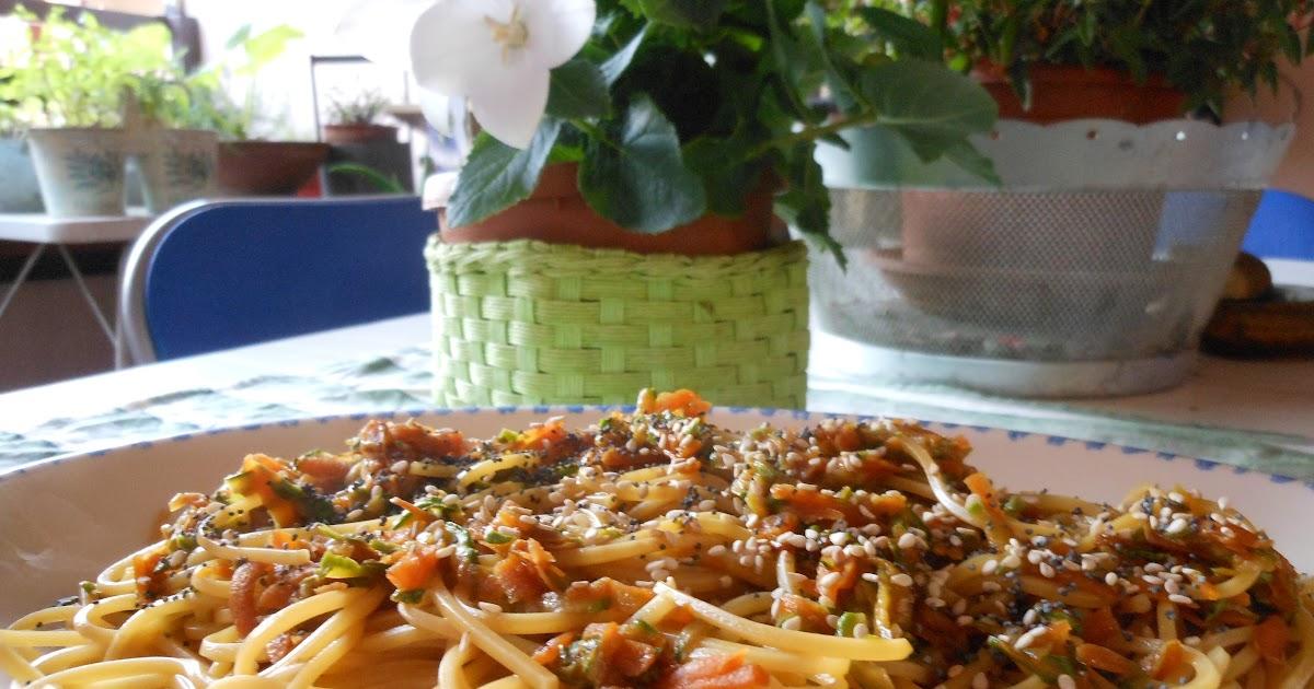 The dreaming seed spaghetti alla chitarra con julienne di for Verdure alla julienne