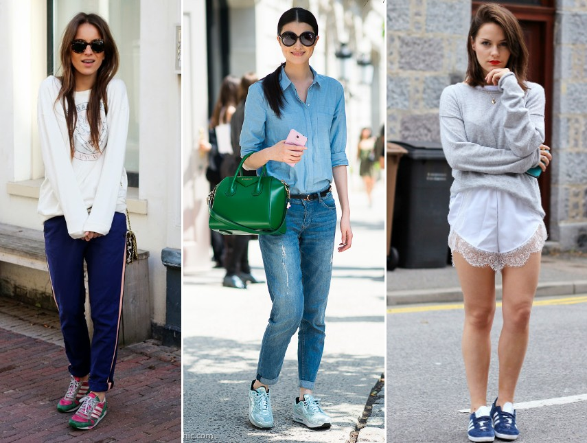trainers sneakers  trend 2014 outfits fashion blog bloggers wearing bright coloured trainers street style streetstyle