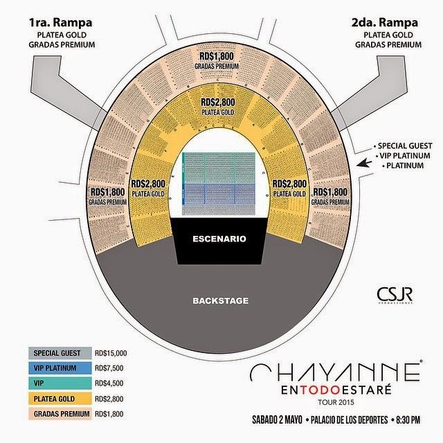 mapa general del concierto de chayanne el s bado 2 mayo