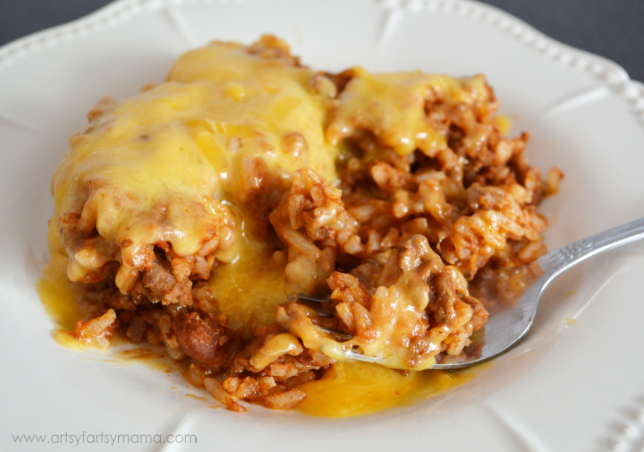 Easy Beef Enchilada Casserole at artsyfartsymama.com