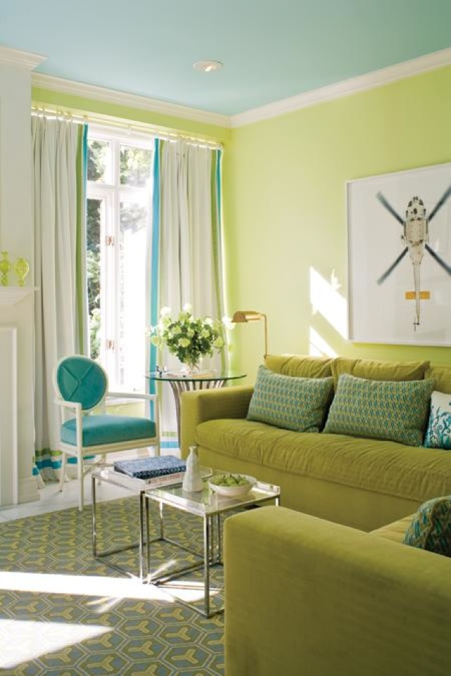 green or chartreuse blue and green create a chic color combination