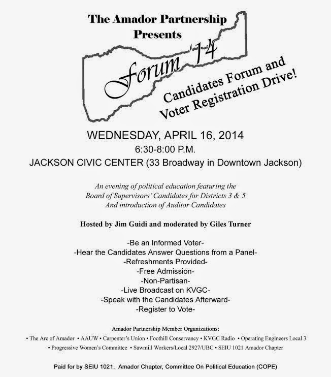 Candidates Forum - Wed April 16