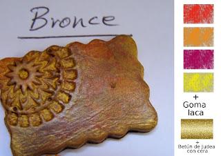Peque eces efectos met licos con pinturas acr licas - Como se limpia el bronce ...