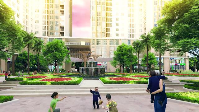 Khuôn viên dự án căn hộ cao cấp Eco Green City