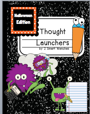 http://www.teacherspayteachers.com/Product/Halloween-Thought-Launchers-1506501