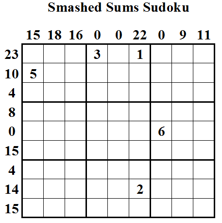 Smashed Sums Sudoku (Daily Sudoku League #15)