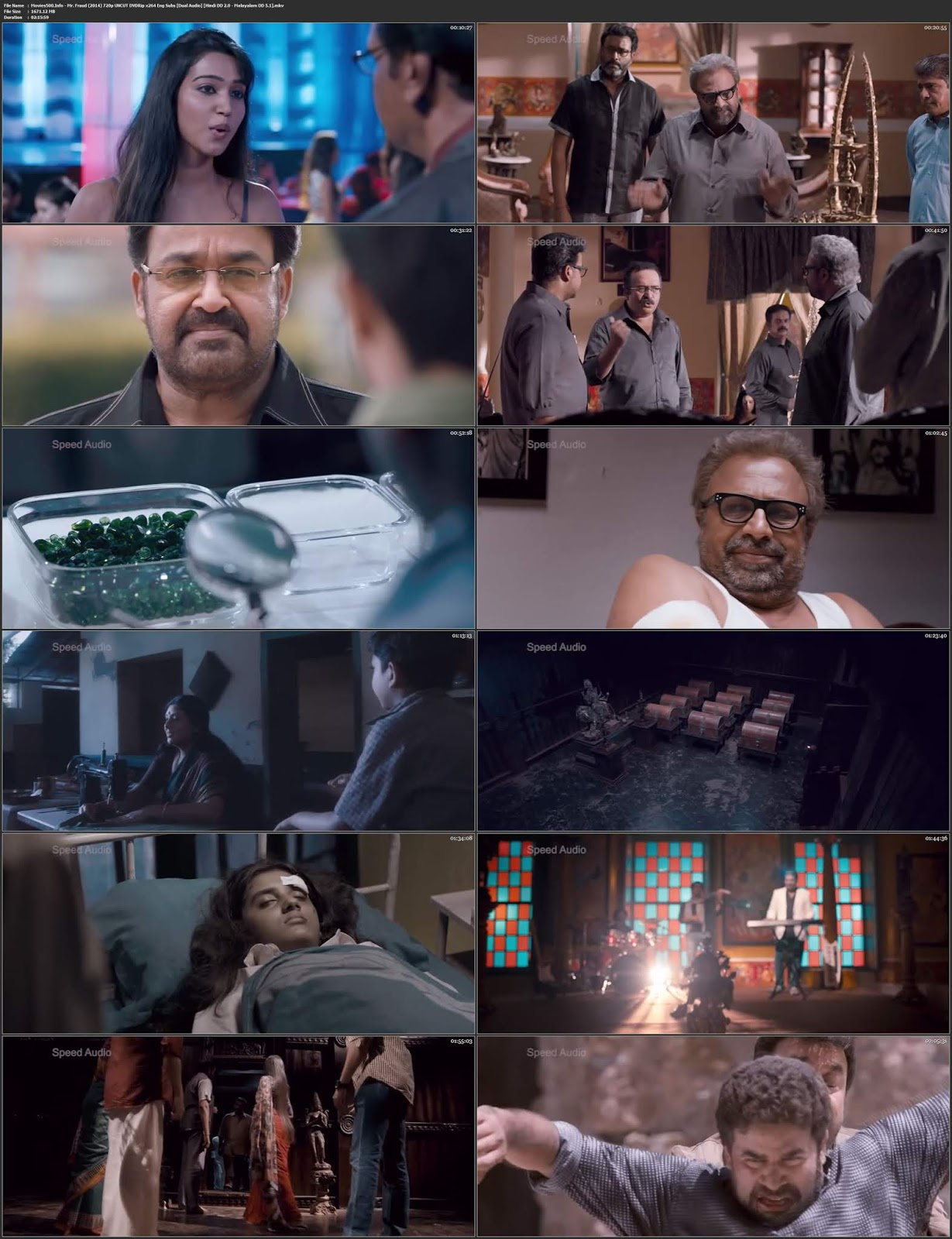 Mr. Fraud 2014 UNCUT Dual Audio Hindi Malayalam DVDRip 720p 1.6GB