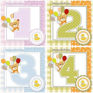 ティディベアを描いた赤ちゃんの誕生カード baby happy birthday cards with teddy bear with balloons イラスト素材