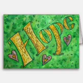 Hope Word Greeting Card
