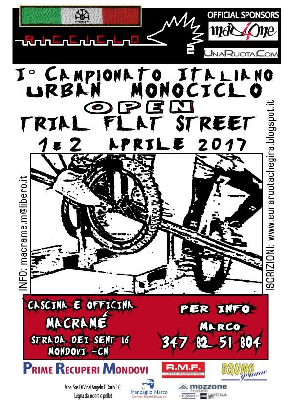 1° Campionato Italiano Urban Open - TRIAL  •  FLAT  •  STREET - Mondovì (CN)