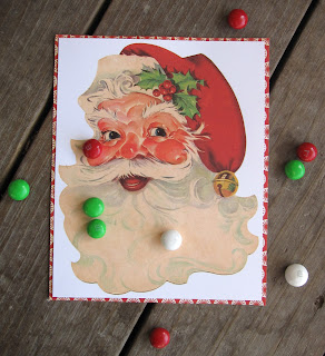 Santa Math Game with Printable {On/Off} from Blissful Roots