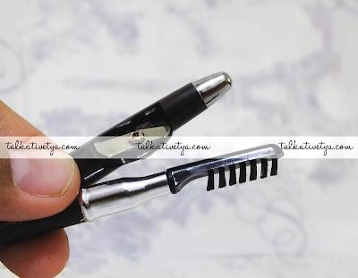Rautan dan sikat alis yang terdapat pada Just Miss Eyebrow Pencil 708A