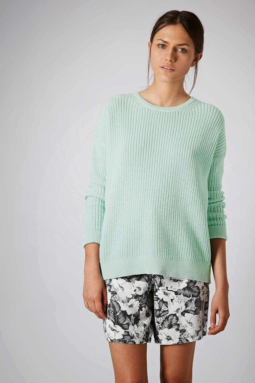 mint green jumper