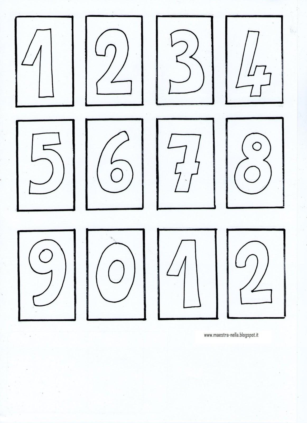 Numeri da stampare e colorare jl56 pineglen - Colore per numeri per i bambini ...