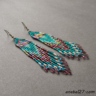 Длинные серьги из бисера - украшения от Anabel