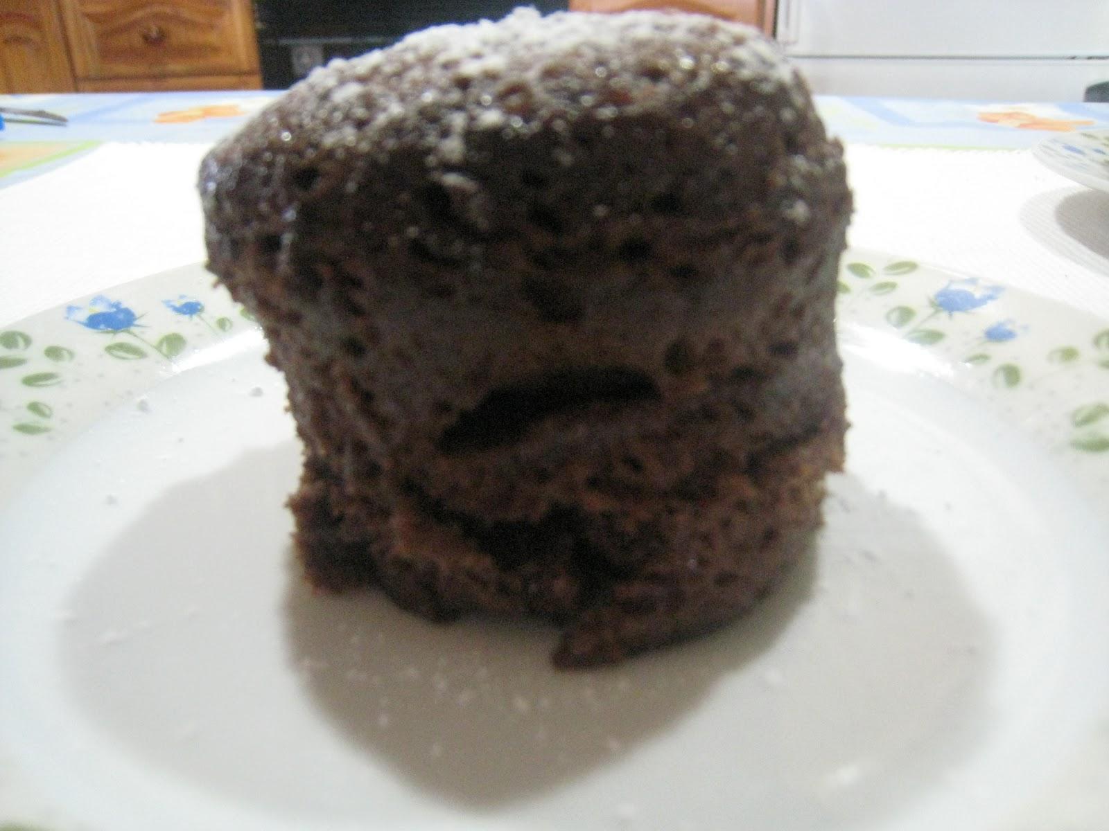 Bizcocho de chocolate al microhondas en 3 minutos - Bizcocho microondas 3 minutos ...