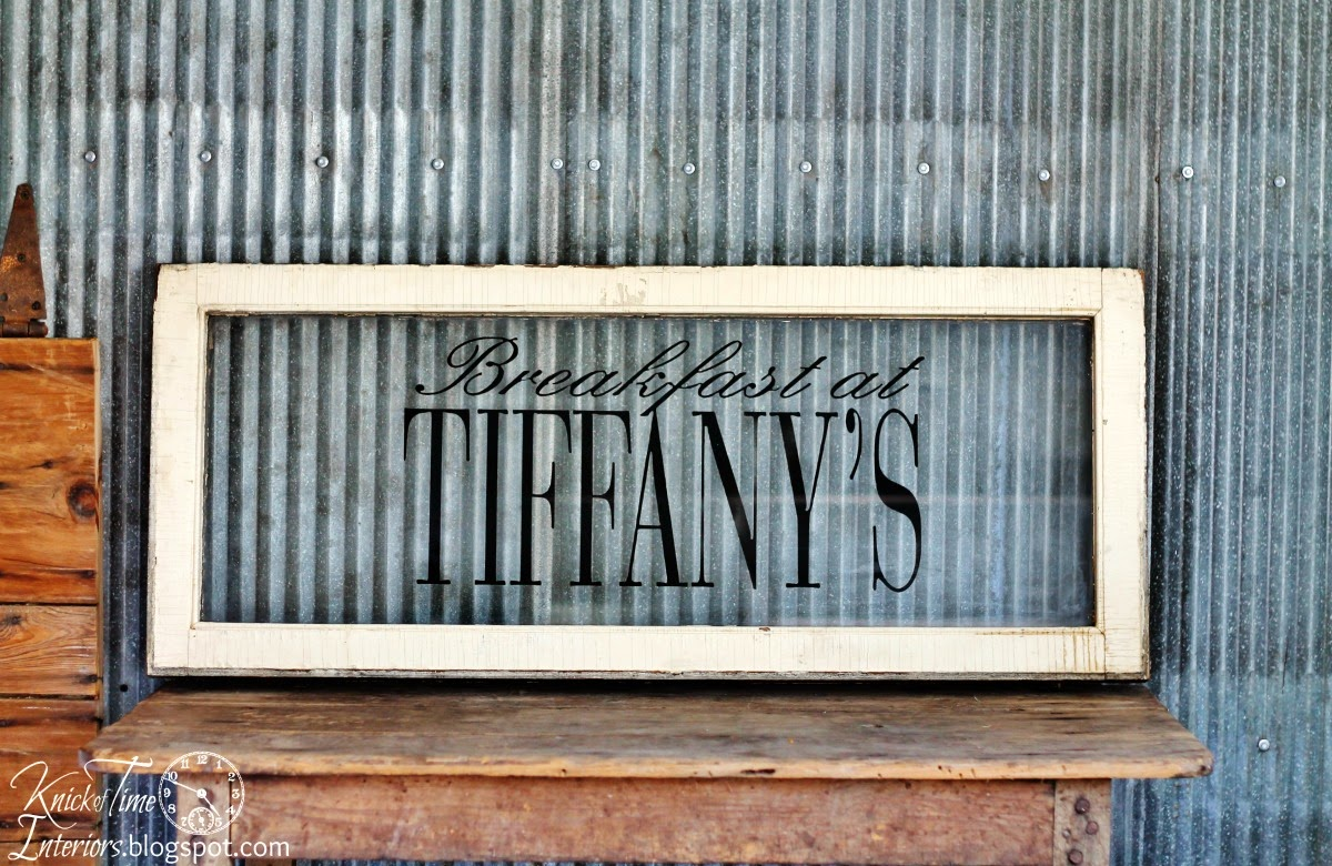 Salvaged Antique Window Sign via Knick of Time