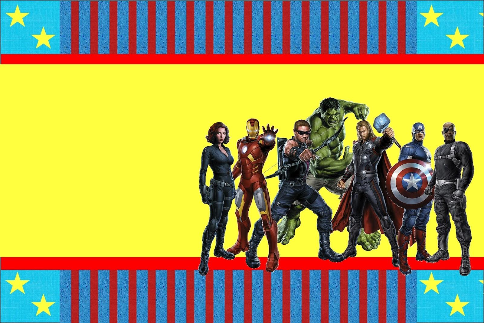 Imprimibles de los Vengadores. : Ideas y material gratis para fiestas ...