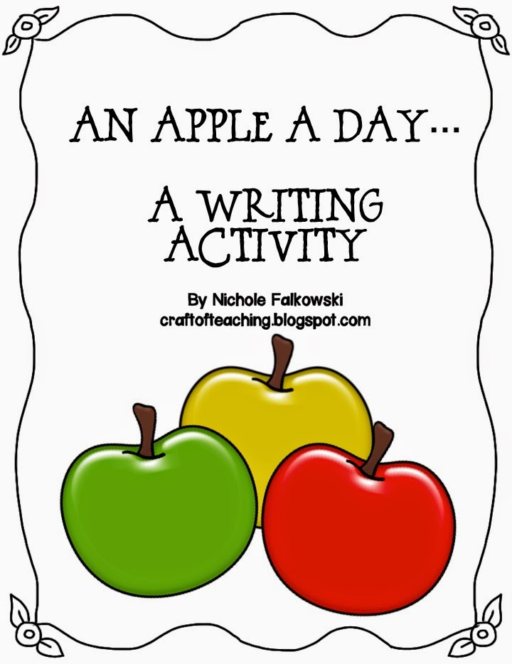http://www.teacherspayteachers.com/Product/An-Apple-A-Day-Writing-Activity-475429