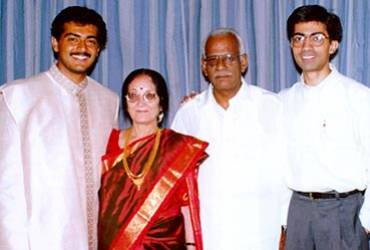 Ajith Kumar with father and mother