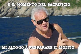 Roberto Formigoni, è il momento del sacrificio, mi alzo io a preparare il mojito - published courtesy of Strenna
