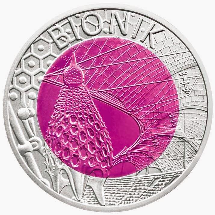 Austria 25 Euro Silver Niobium Coin 2012 Bionik