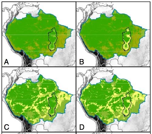 Karte Amazonas Regenwald, Brasilien: Stadtplan, Karte und