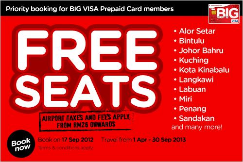 Rumah Infomasi Tiket Percuma Airasia Airasia Free Seats 2012 2013