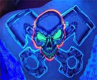 The black tattoos black light tattoos for Uv tattoo health risks