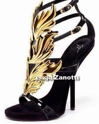 giuseppe zanotti women's leather shoes high-heeled
