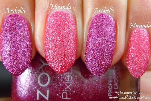 Zoya Arabella Vs Miranda Sassy Paints: Zoya Pix...