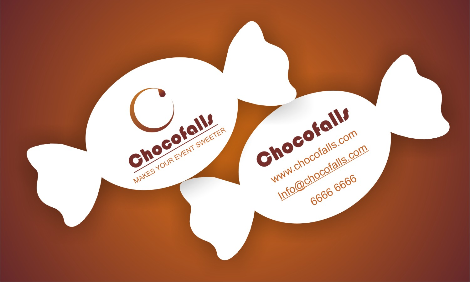 Harshini Creative Graphics: Unique Business card for Chocolate Company