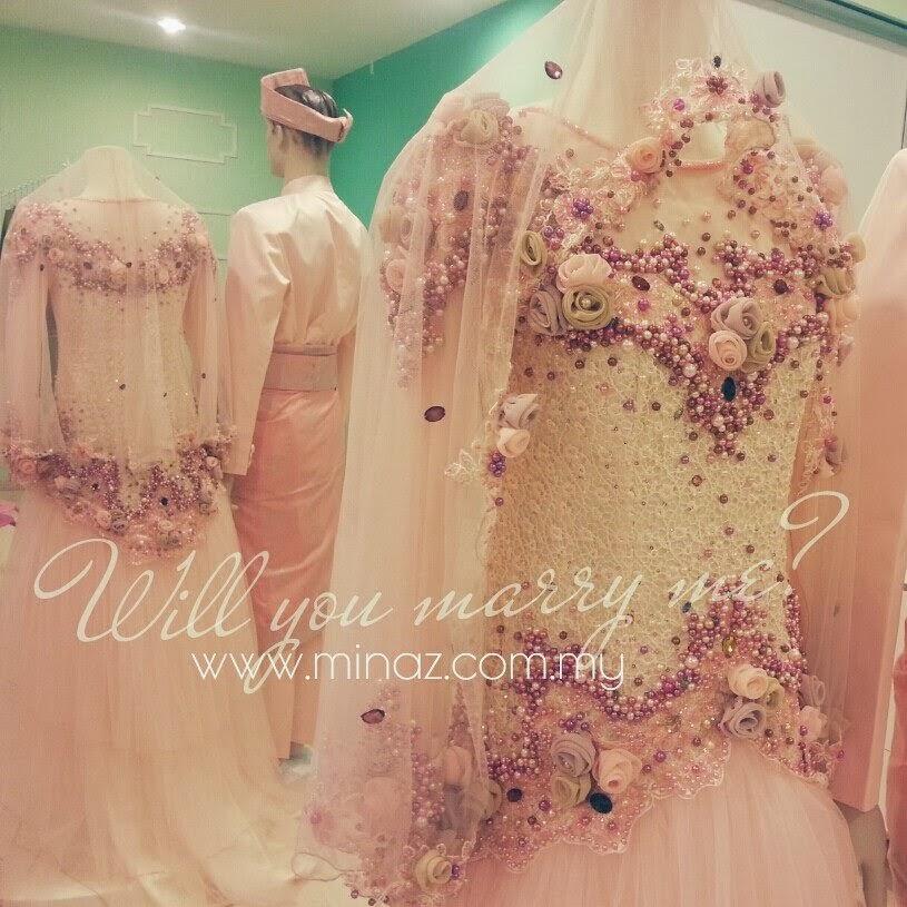 trend baju nikah 2014 Minaz boutique