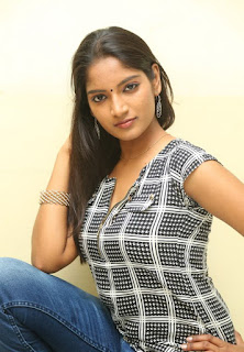 Actress Keerthi  Pictures in Jeans at TLLILKBL Press Meet  4