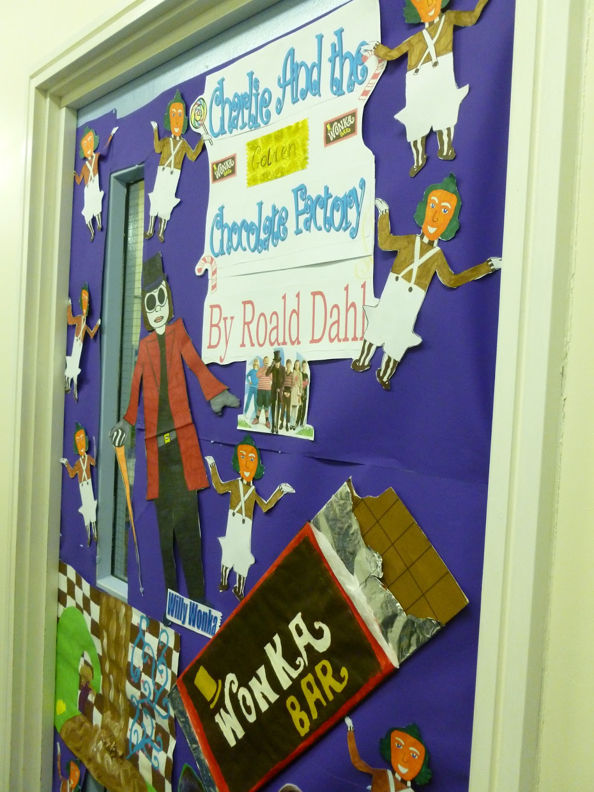 our lady s abingdon library news decorated doors for world book day  and 9c s winnie the pooh 3rd but the winners were form 8c a hugely creative and inventive interpretation of charlie and the chocolate factory