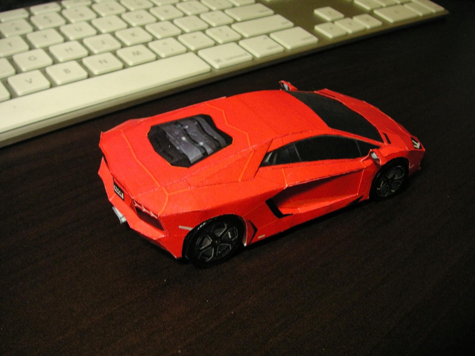 Yoshiny's Design: Lamborghini Aventador LP700-4 - Papercraft