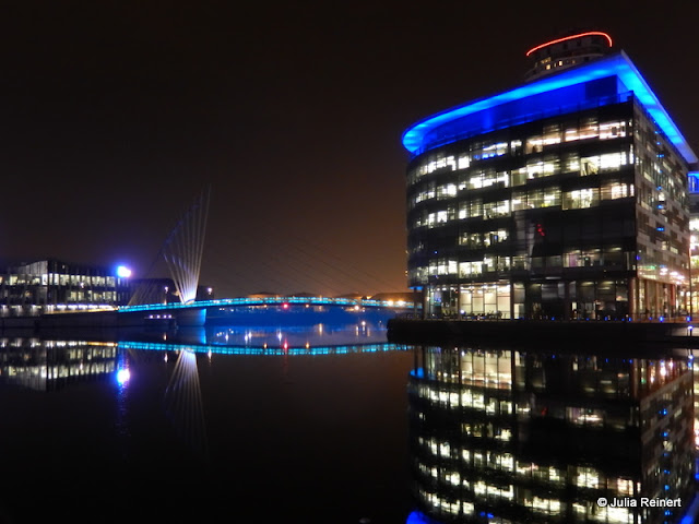 MediaCityUK by Night