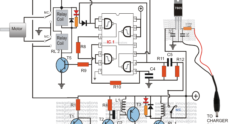 Draw your wiring : Cell Phone Motor Starter Controller Circuit Diagram