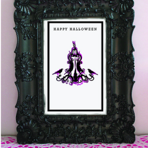 Halloween cards and bouquet by Torie Jayne